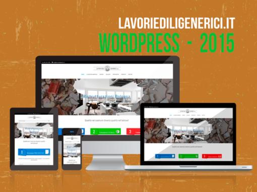 Sito web WordPress con grafica personalizzata 2015